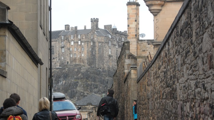 A view of Edinburgh Castle not far from our hotel.