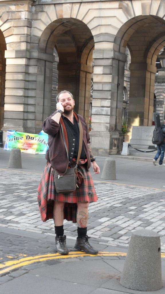 A Scotsman on alert.