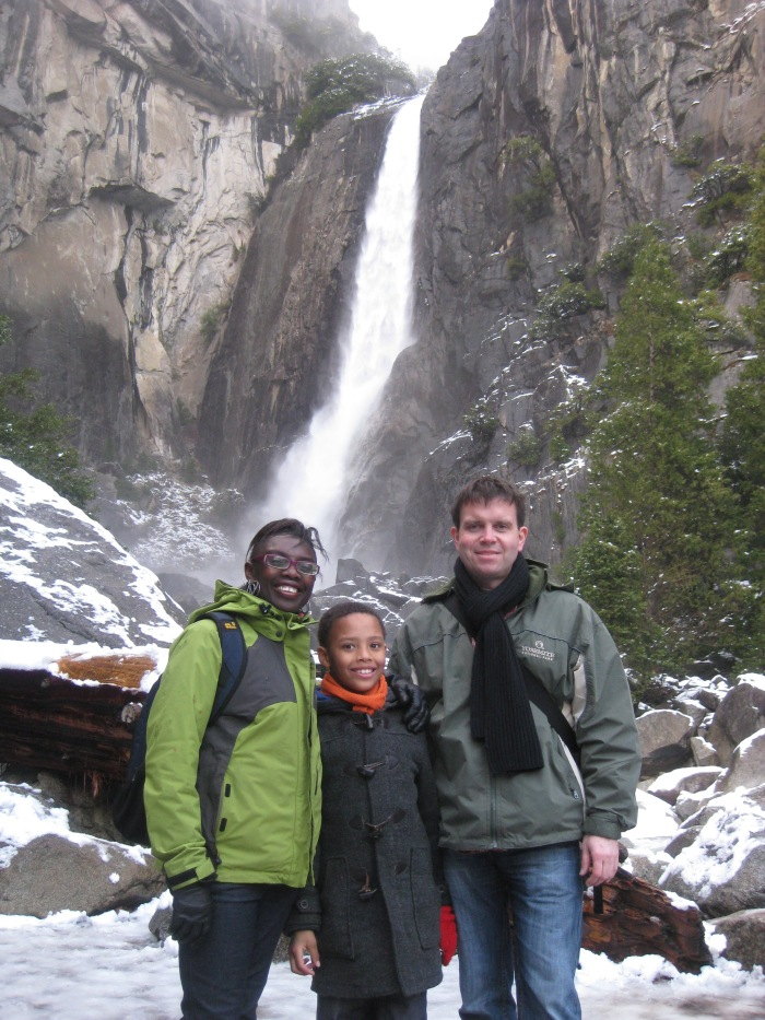 Under the waterfall in Yosemite