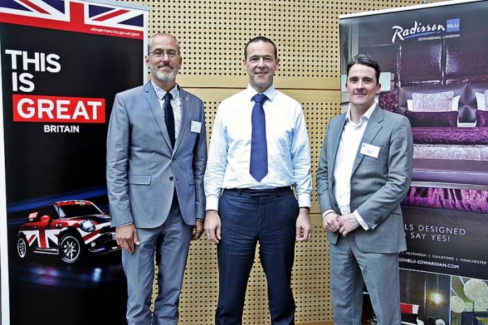 The British Ambassador Simon McDonald and Ben Ford, Radisson Blu Edwardian, London