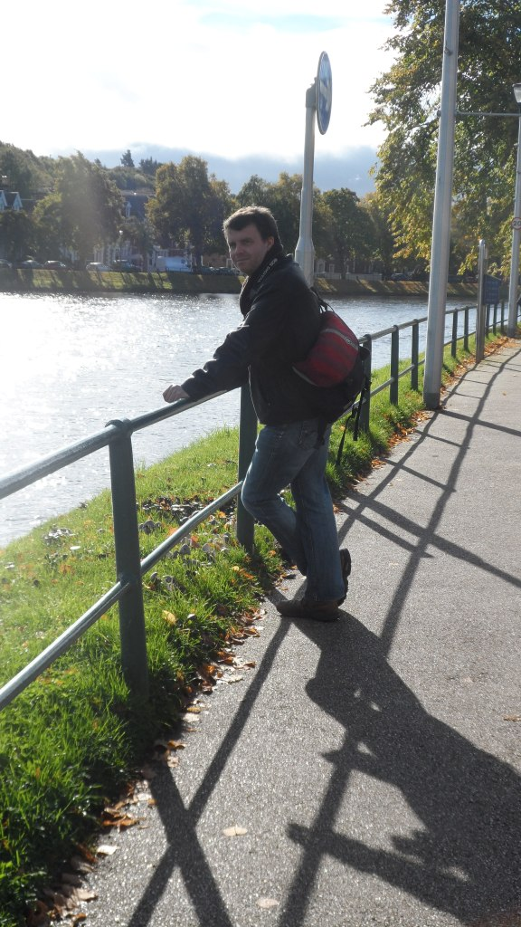 My husband on the Ness Walk in Inverness