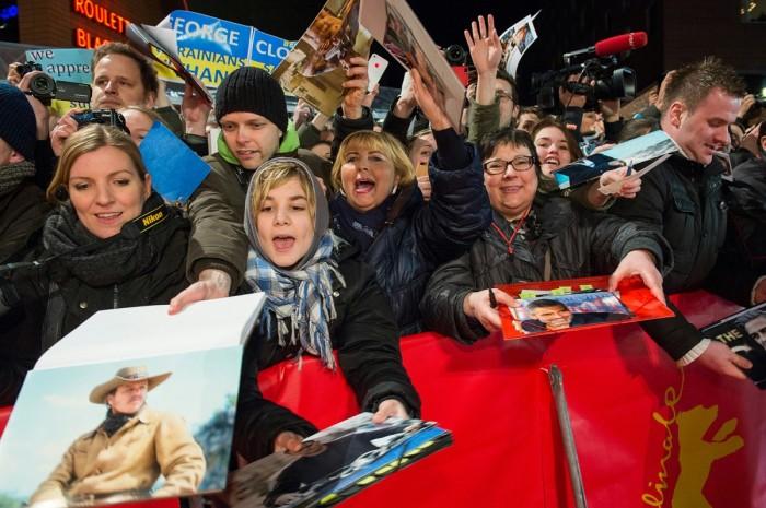 We love you Georgie! The Berlinale, 2014.