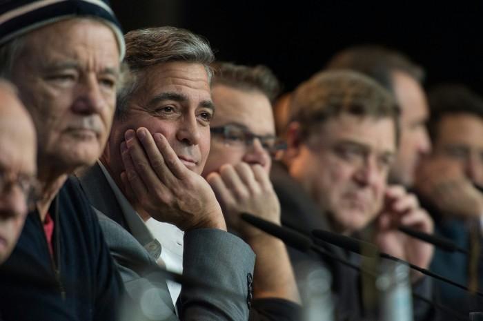 "Bill Murray, George Clooney, Matt Damon & John Goodman. Press Conference at ""The Monuments Men."" The Berlinale, 2014"