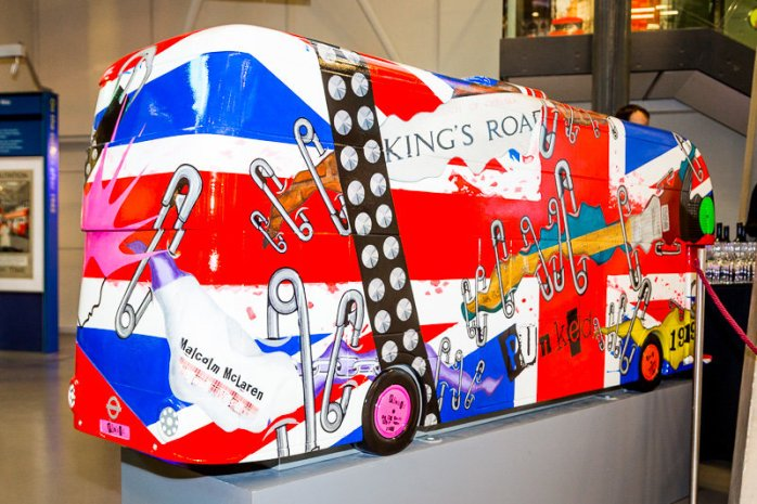 A red double-decker London Routemaster bus, pimped up & decorated!