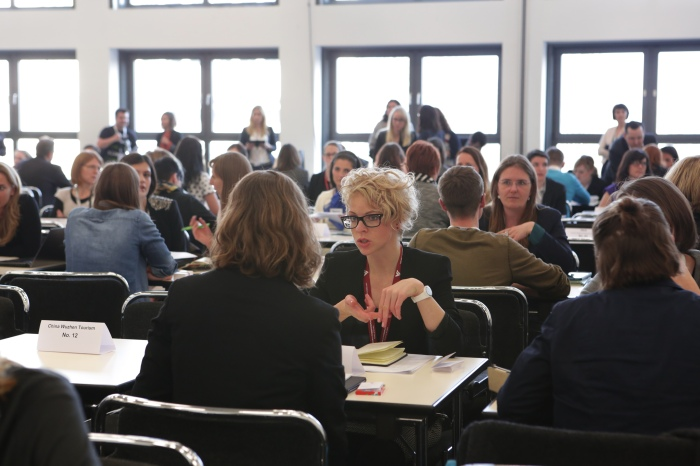 Blogger Speed Dating-Networking at the ITB Berlin.