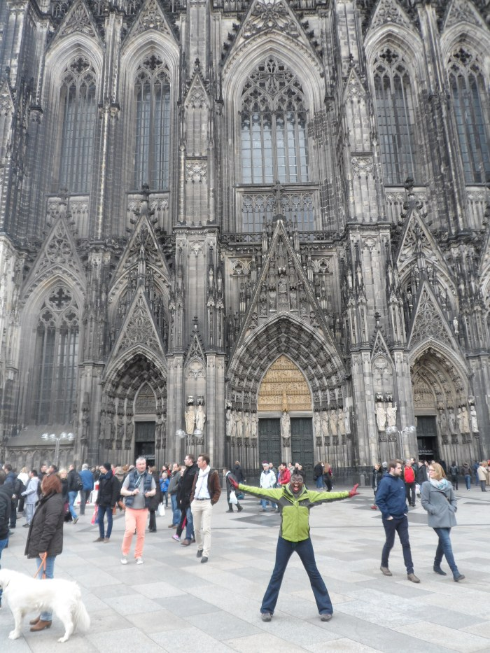 Scream and Shout! At the Cologne Cathedral, 2014.