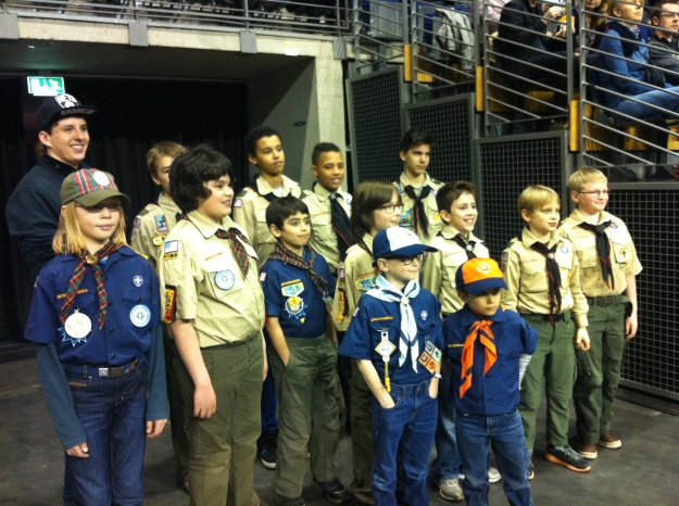 Excited American Scouts!