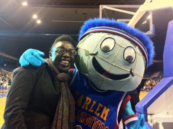 The Harlem Globetrotter Mascot - Basketball.