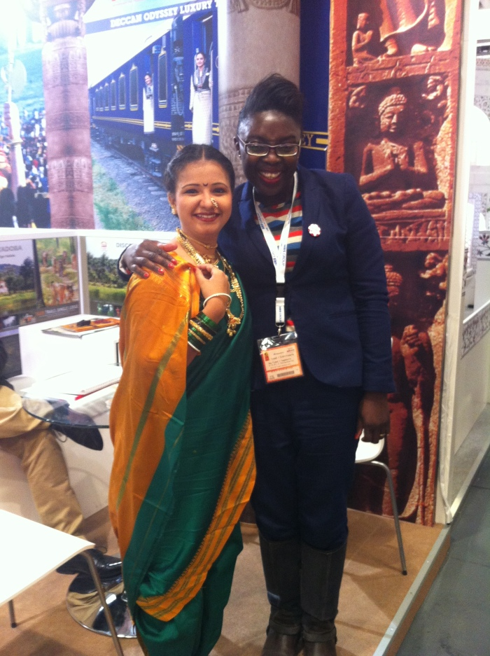 Myself and an Asian girl at the ITB Berlin.
