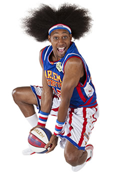 """Moose"". The Harlem Globetrotters & Basketball."