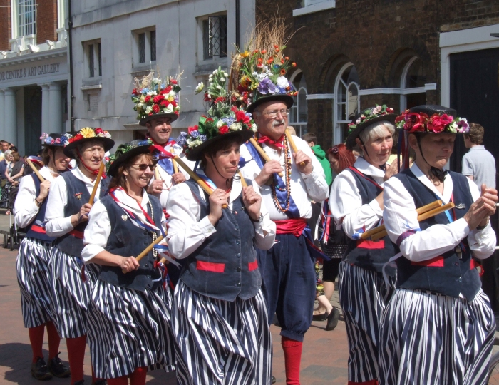 Morris Dancing. After you. No. After you! © Arthur Cornwell