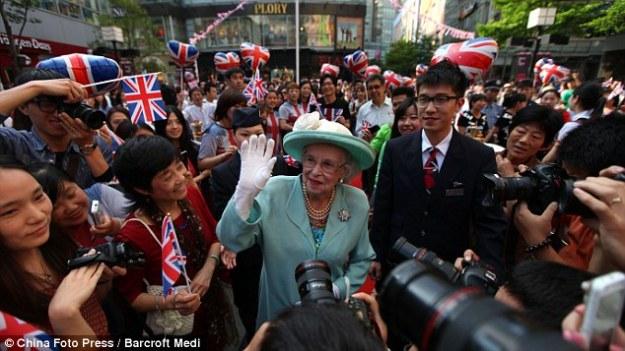 """The """"queen"""" in Shanghai."""