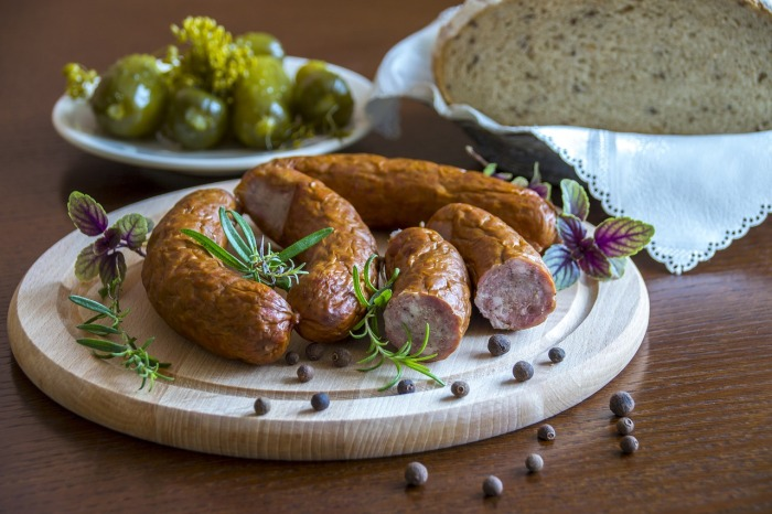 Polish country sausages and bread!