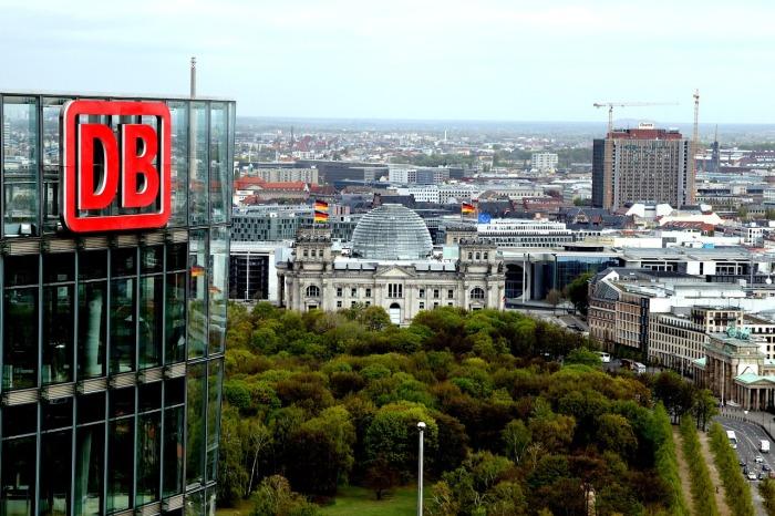 The Deutsche Bahn building in Berlin!