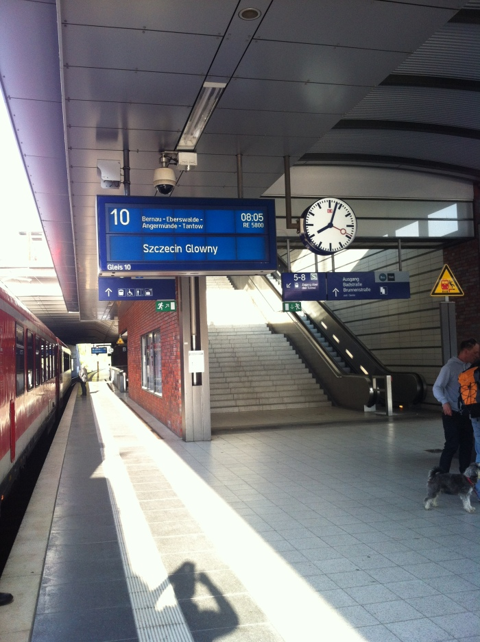 The German Rail / Deutsche Bahn train leaving Berlin.
