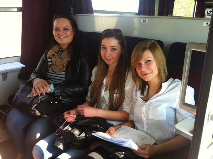 Some of the local Polish girls that we met on the Polish train to Malbork.