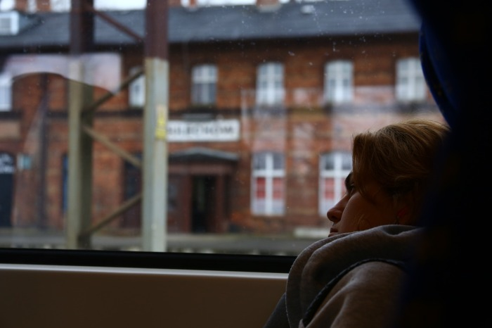Keira Knightley on the passenger train in Poland!
