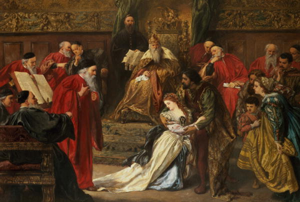Cordelia in the court of King Lear painted in 1873.