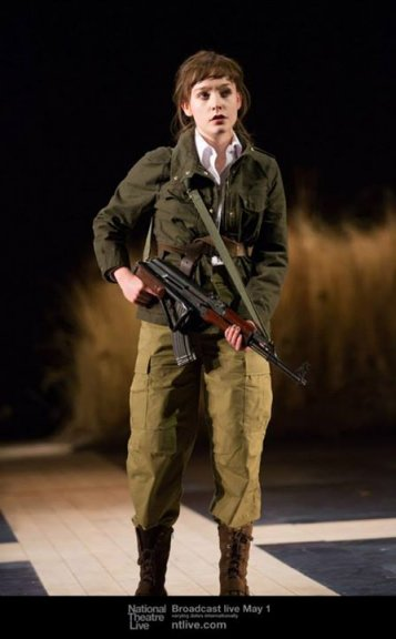 Cordelia, the beloved daughter of King Lear (Olivia Vinall).