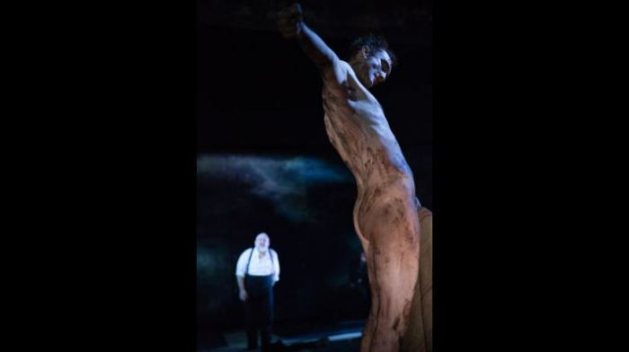 Edgar son of Gloucester (Tom Brooke), in a terrible state in King Lear!