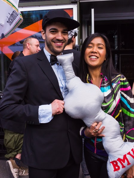 Aviel and La Vern at the Berlin Music Video Awards. Photo credit: Steve Jones.