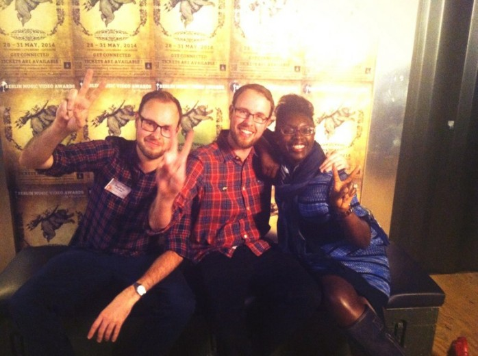 Myself and the twins from Golden Wolf! Hilarious guys!
