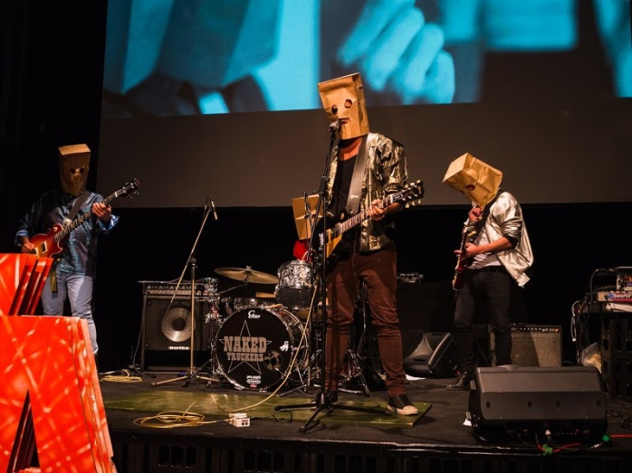 Sala and the Strange Sounds at the Berlin Music Video Awards. Photo credit: Steve Jones.