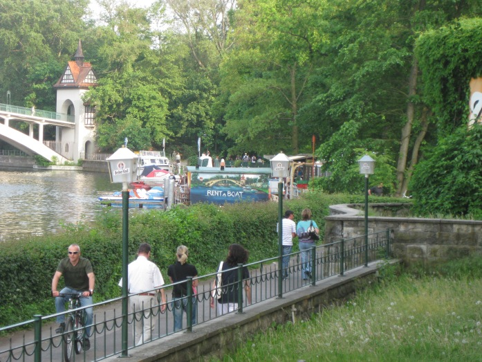 Rent a boat at Treptower Park, Berlin. Go on, you know you want to!