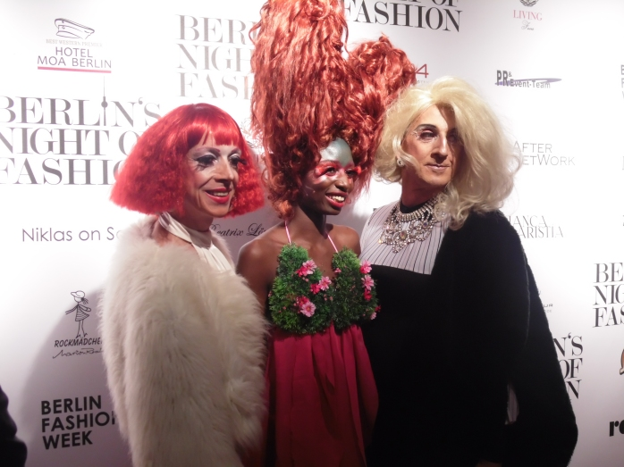Having fun at Berlin's Night of Fashion.