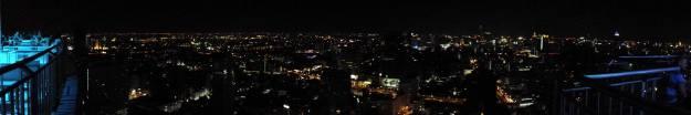 A breath-taking panaromic view of Bangkok at Night at Cloud 47 sky bar.