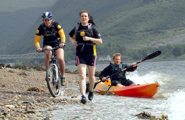 Healthy outdoor Scots doing the Nokia Coast to Coast Scotland's latest multi-sport challenge.  Gosh! I'm tired just looking at 'em! Photos@ Rebecca Lee