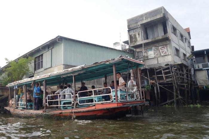 Fantastic views of everyday life on the riverbanks in Bangkok, Thailand.