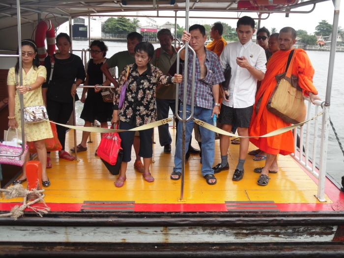 Some of the local people in Bangkok, Thailand.