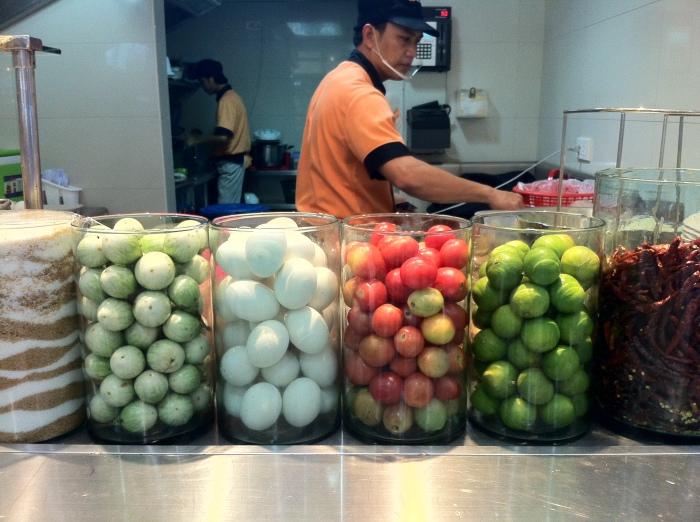 Thai pickles - Don't pack them too full!