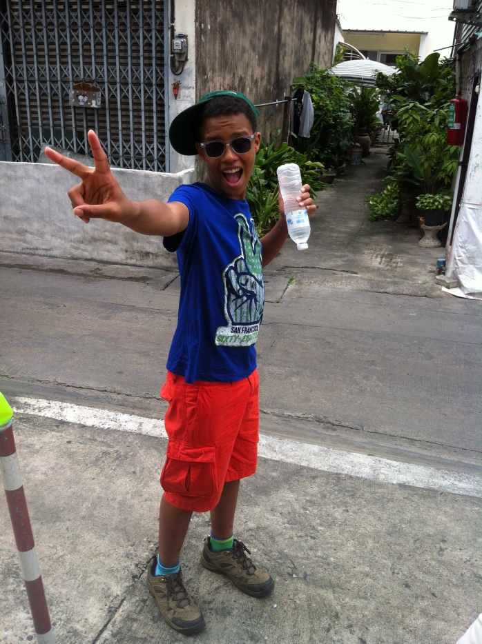 """The Tall Young Gentleman"" having fun in Bangkok."