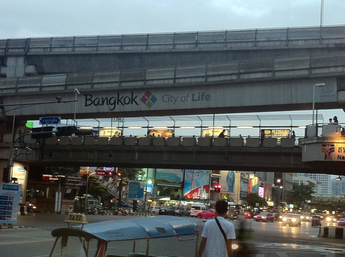 The modern city of Bangkok, Thailand.