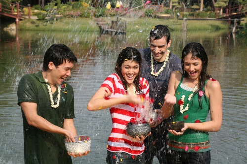 The very famous Songkran Festival in Chiang Mai. Photo@ the Tourism Authority of Thailand.