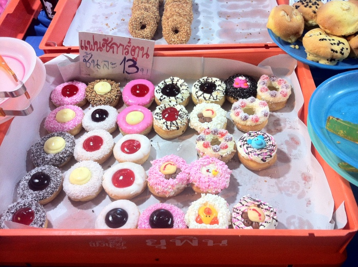 A variety of jolly cakes at 13 Baht or 40 cents each!