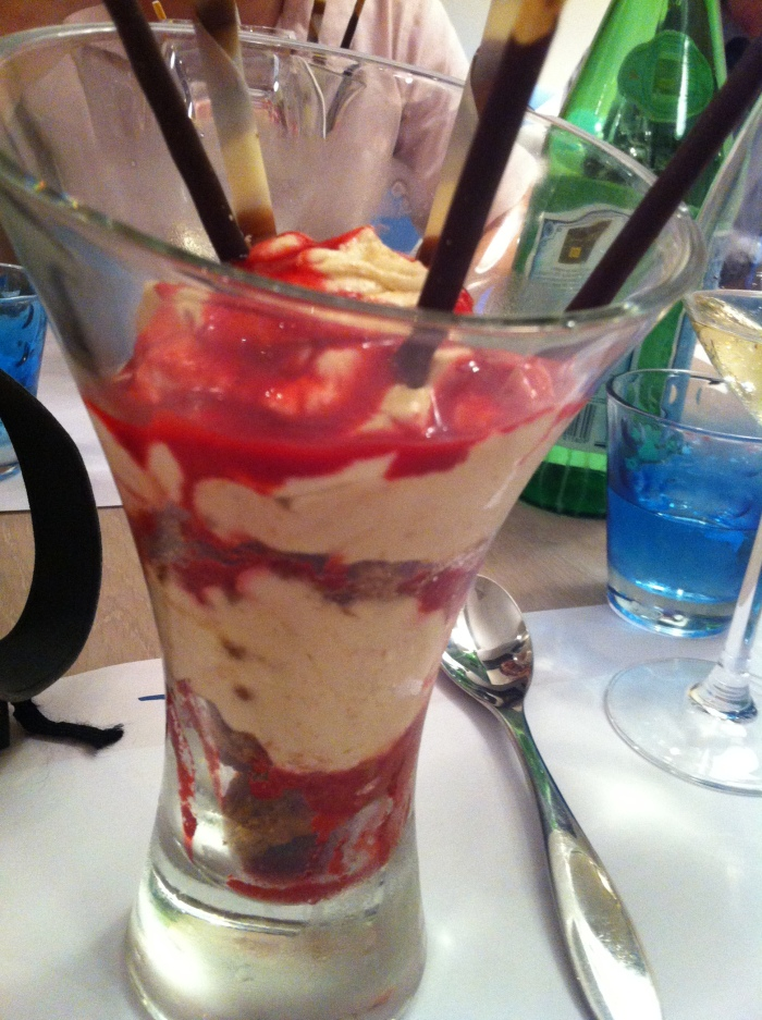 Ice-cream sundae in Nord-Pas-de Calais. Is this yum, or is this yum?!