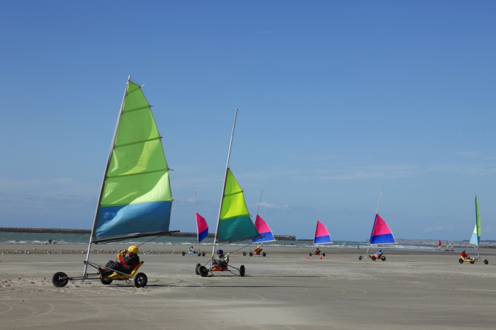 Sand yachting! Doesn't that sound exciting? In Northern France.