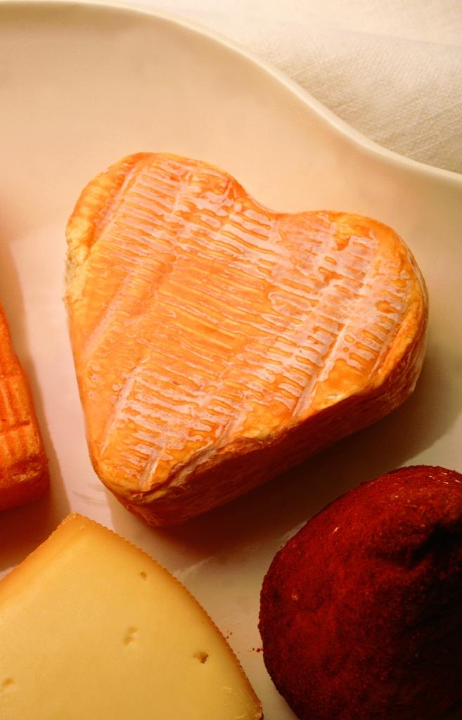 Heart-shaped Coeur d'Arras cheese in Nord-Pas de Calais.