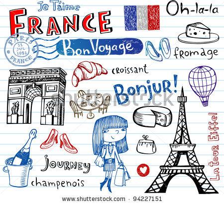 Symbols of France. Oh -La-La!