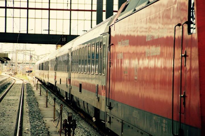 The Deutsche Bahn train.
