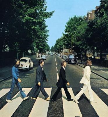 The Abbey Road Zebra Crossing.