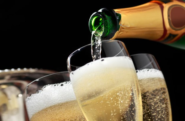 Drinking Champagne before the tears of laughter took over! Picture @iStockPhoto