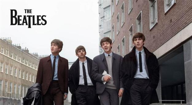 The 4 young men known as The Beatles.