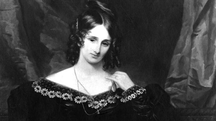 Mary Shelley the writer of the very gruesome but fascinating - Frankenstein.