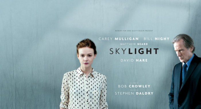 Carey Mulligan and Bill Nighy in Skylight at the National Theatre Live.