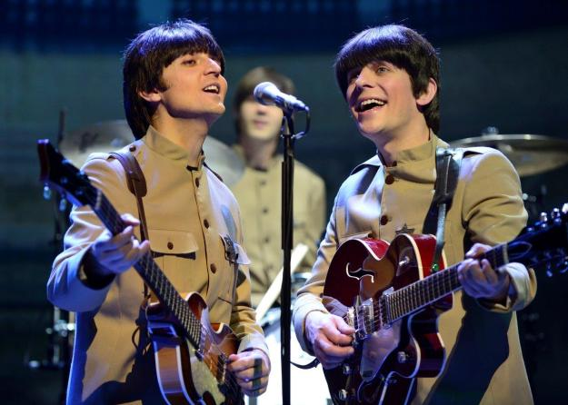 """""""Paul"""" and """"George"""" at  Let It Be. Photo@ Paul Coltas."""