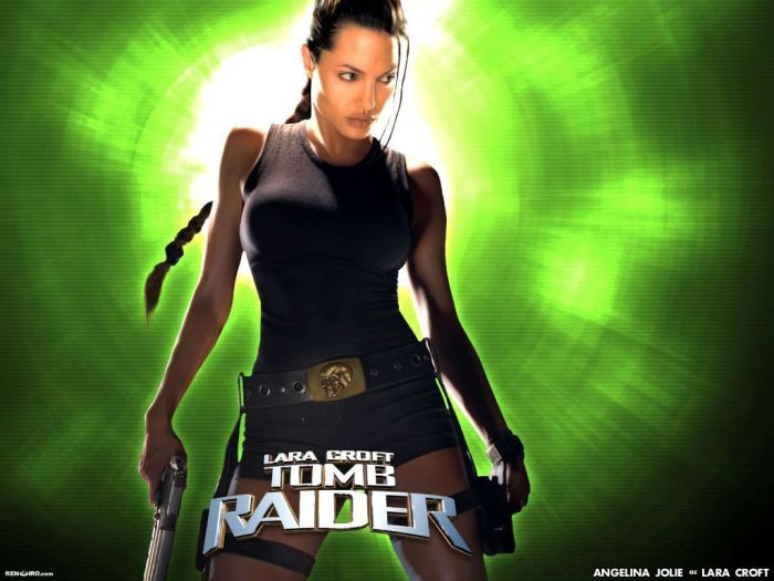 Angelina Jolie as Lara Croft in the film - Tomb Raider.